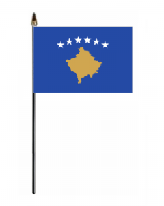 Kosovo Country Hand Flag - Small.